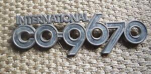 Classic International Harvester CO-9670 Cabover Emblem Chrome Grille Logo Truck
