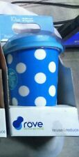 ROVE DOUBLE WALL INSULATED HOT COLD PORCELAIN TRAVEL TUMBLER-BLUE