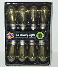 Halloween Prop Flickering Edison Lights SOUNDS Electrocution Buzz Evil Scientist