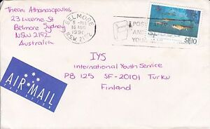 BD26) Air mail cover to Finland bearing: $1.10 Antarctic Science, Price $6