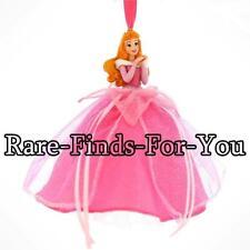 Disney Park Sleeping Beauty Princess Aurora Glitter Dress Christmas Ornament NEW