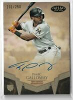 2019 Topps Tier One Baseball Breakout Autograph Isaac Galloway 231/250 Marlins