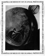 ▬► PUBLICITE ADVERTISING AD LANVIN Parfum Perfume Pretexte Scandal Arpège 1955