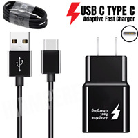 For OEM SAMSUNG Galaxy S8 S9 S10 Plus Note10 Fast Wall Car Charger Type-C Cable