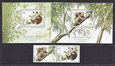 1995 Joint Issue With China, Koalas And Pandas Set Ant M/Ss *Muh*