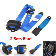 2 Sets 3 Point Car Seat Belt Lap & Diagonal Belt Straps w/ Quick Release Camlock