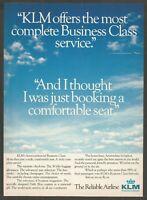KLM Royal Dutch Airlines - 1986 Vintage Print Ad
