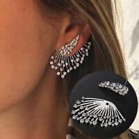 2018 Trend Punk Style Zircon Statement Ear Stud Earrings Women Jewelry Gift 1pc
