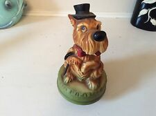Vintage musical dog with hat cane How much is that doggy