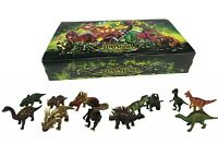 12pcs Jurassic Dinosaur T REX Play Figures Gift Box Set Model Toy Moving Legs