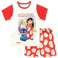 Disney Lilo & Stitch Pyjamas | Girls Lilo and Stitch Short PJs | Kids Disney PJs