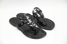 #301 Tory Burch 'Miller' Flip Flop Sandals Size 9.5 M  $198 retail Black Patent