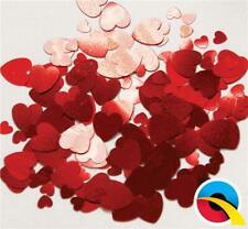 Assortiti Rosso Cuori Metallico Coriandoli per Tavola