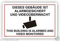 Schild,Alarmgesichert,videoüberwachung,videoüberwacht,video,Alarm,WarnschildVi67