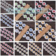 "DIY 2.4cm 0.95""Vintage Flower Embroidered Lace Edge Trim Ribbon Wedding Applique"