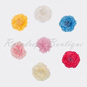 "5"" Fabric Peony Flower for tutu dress hair applique wedding craft embellishments"