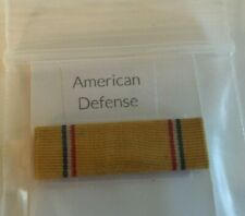 "US MILITARY   RIBBON "" AMERICAN DEFENSE  "" UNMOUNTED"