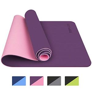 TOPLUS Yoga Mat, Classic Pro Yoga Mat TPE Eco Friendly Non Slip Fitness Exercise