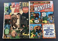 Mixed Lot of 4 Comic Books Silver Bronze Age SCI FI / Horror
