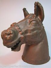 Vintage Cast Metal Horse Head Mold large ornate carousel toy industrial artwork