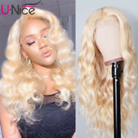 UNice 613 Blonde Lace Front Wigs Peruvian Body Wave Human Hair Wigs 150% Density