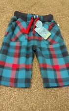 BNWT frugi little blue checked snugs size 0-3