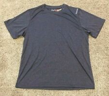 Men's Dark Gray Reebok Short Sleeve Active Sport Top Medium