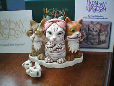 New 2017 Harmony Kingdom Feline Evil Cats Uk Made Marble Resin Box Figurine Sgn