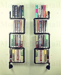 Industrial shelf storage made from galvanised iron in black