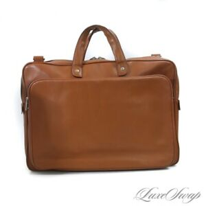 THE MODERN MAN Jack Spade Whiskey Brown Soft Leather Laptop Commuter Briefcase