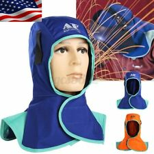 New Flame Retardant Helmet Welding Neck Protective Cap Hood Welder Head A+ D