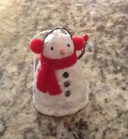 Midwest CBK Snowman with Red Ear Muff's Ornament - Free Shipping