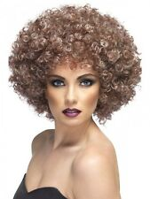 Ladies Afro Wig Disco 1970s Blonde and Brown 70's Fancy Dress Costume Accessory
