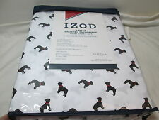 Izod 4 piece Brushed Microfiber Twin Sheet Set ~ Black Great Dane Dogs New