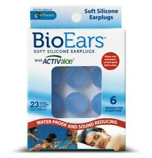 BioEars Soft Silicone Earplugs 6 Pairs For swimming or sleeping