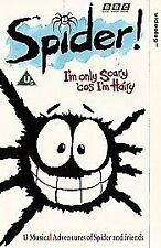 SPIDER IN THE BATH - 13 MUSICAL ADVENTURES - BBC - VHS PAL (UK) VIDEO