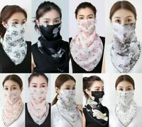 Women's Hanging Ear Mask Cover Reusable Scarf Washable Outdoor Sun Protection UK