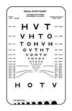Large Framed Print - Modern Eye Chart (Picture Poster Snellen Optician Glasses)