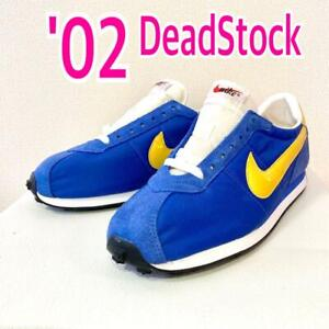 NIKE WAFFLE TRAINER SNEAKERS 2002 Blue/Yellow Size US 10 NEVER USED From JPN F/S