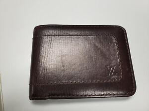 Louis Vuitton brown leather men wallet