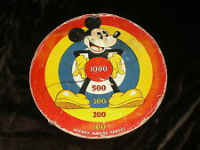 """New listing Mickey Mouse Target 1930s Cardboard Disney Game Vintage Marks Bros Marx Toy 17"""""""
