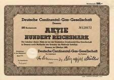 Lot 10 x allemande Continental-gaz société action 1942 Dessau saxe-Anhalt