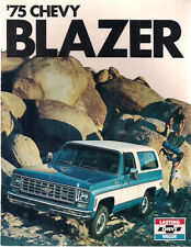 1975 CHEVROLET BLAZER 8-page illustrated brochure with specs