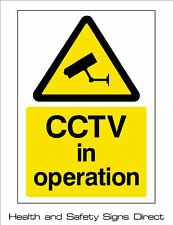 CCTV IN OPERATION PLASTIC RIGID SIGN 150 x 210mm *CHEAP*