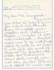JETTA GOUDAL Vintage Original SIGNED LETTER, PERSONAL Letterhead LAMPARSKI #1