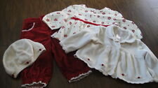 JANIE AND JACK 3-6 NOSTALGIC HOLIDAY PANT TOP SWEATER HAT LOT