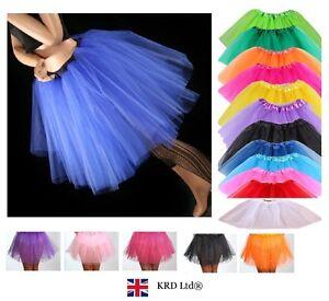 3 LAYERS HIGH QUALITY Ladies Girls Tutu Skirt Fancy Skirts Dress Up Hen Party UK