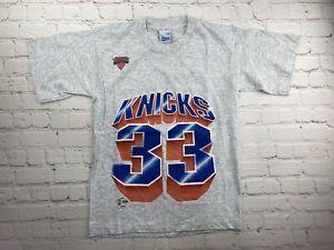 VTG 1990s New York Knicks Patrick EWING Kids T-Shirt Size Large NBA Basketball