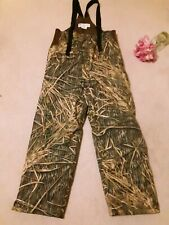 Columbia Bib Insulated Camo Overalls Men Med Mossy Oak Shadow Grass camouflage