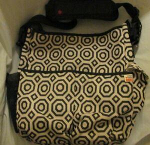 Skip Hop Jonathan Adler Black Light & Luxe Tote Diaper Baby Shoulder Bag